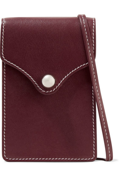 Ratio et Motus - Disco Mini Leather Shoulder Bag - Burgundy