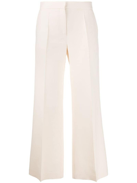 Valentino cropped wide-leg trousers in neutrals