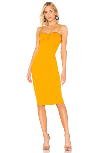 Lovers + Friends Kudrow Midi Dress in yellow