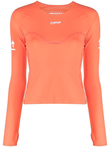 Off-White ACTIVE LONG SLEEVE TOP CORAL RED NO COLOR - Orange
