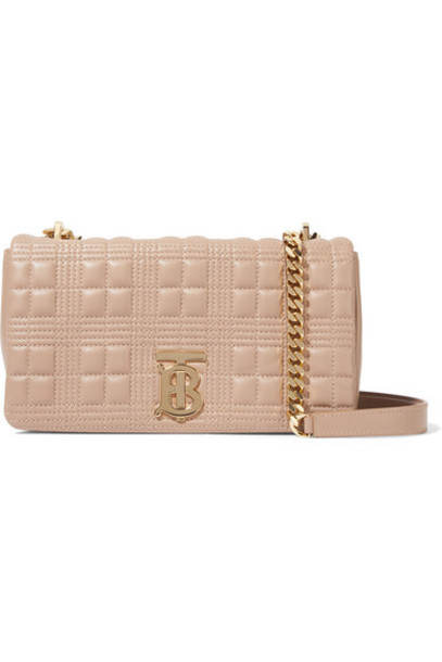 Burberry - Quilted Leather Shoulder Bag - Sand