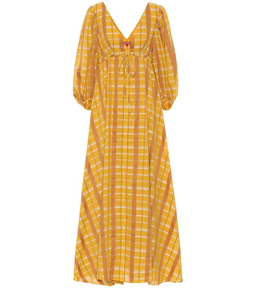 Staud Amaretti cotton-blend maxi dress in yellow