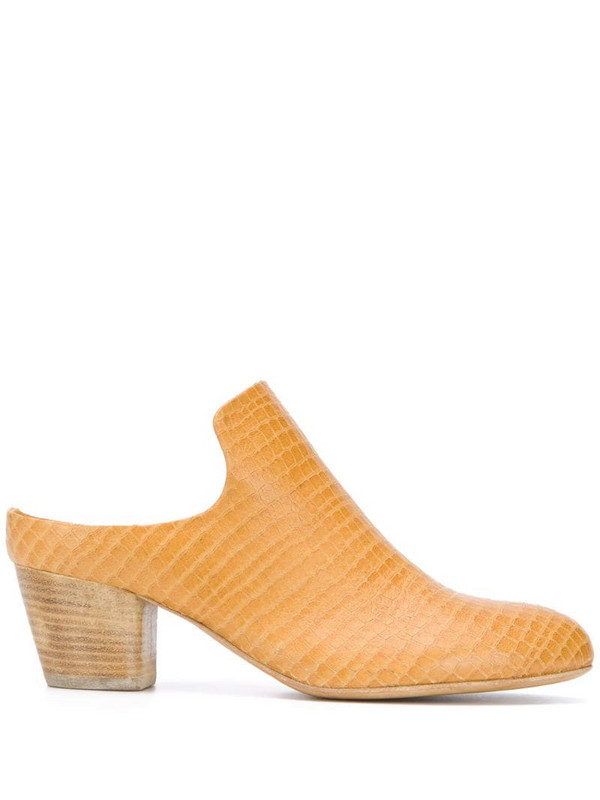 Officine Creative Jeannine mule pumps in yellow