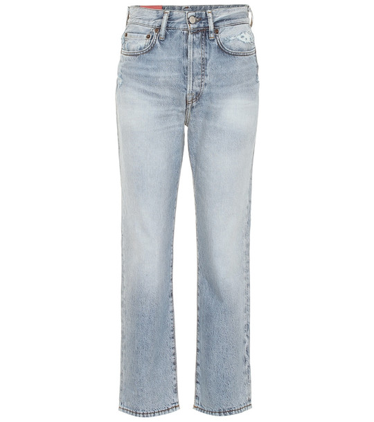 Acne Studios Blå Konst Mece straight jeans in blue