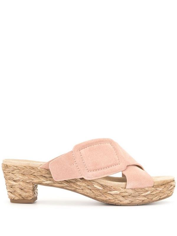 Pedro Garcia braided raffia sole sandals in pink
