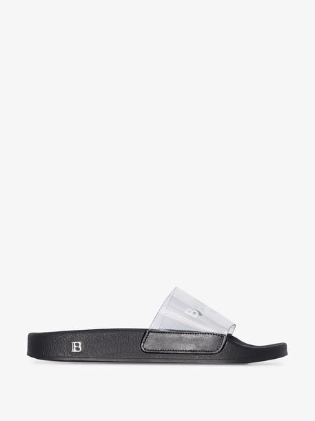 Balmain black logo sandals