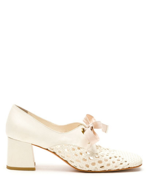 Sarah Chofakian Romance leather pumps in neutrals