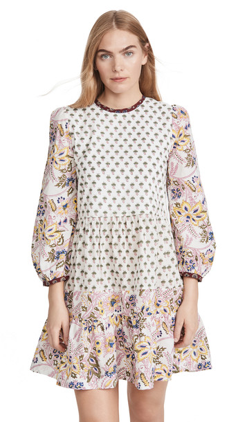 Alix of Bohemia Annabel Patchwork Dress in pink / multi