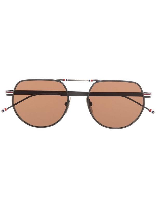 Thom Browne Eyewear TBS918 aviator sunglasses in black