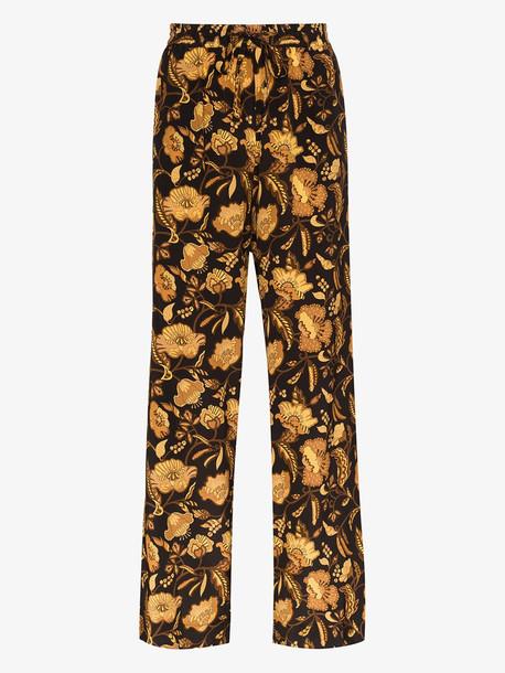 Matteau floral print silk trousers