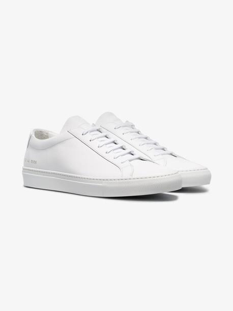 Common Projects white Achilles leather low top sneakers