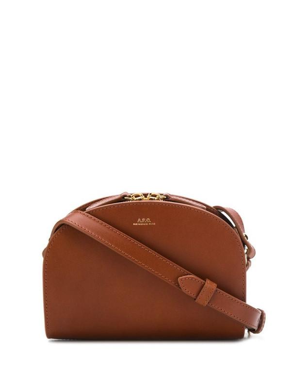 A.P.C. cross body bag in brown