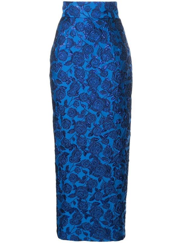 Bambah Bellflower pencil skirt in blue