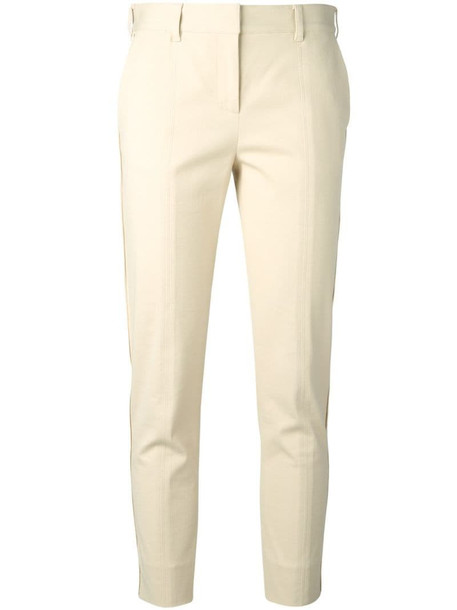Reed Krakoff textured cropped trousers in neutrals