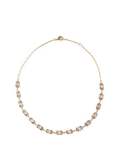 Noor Fares - Kamala Diamond, Moonstone & 18kt Gold Necklace - Womens - Gold Multi