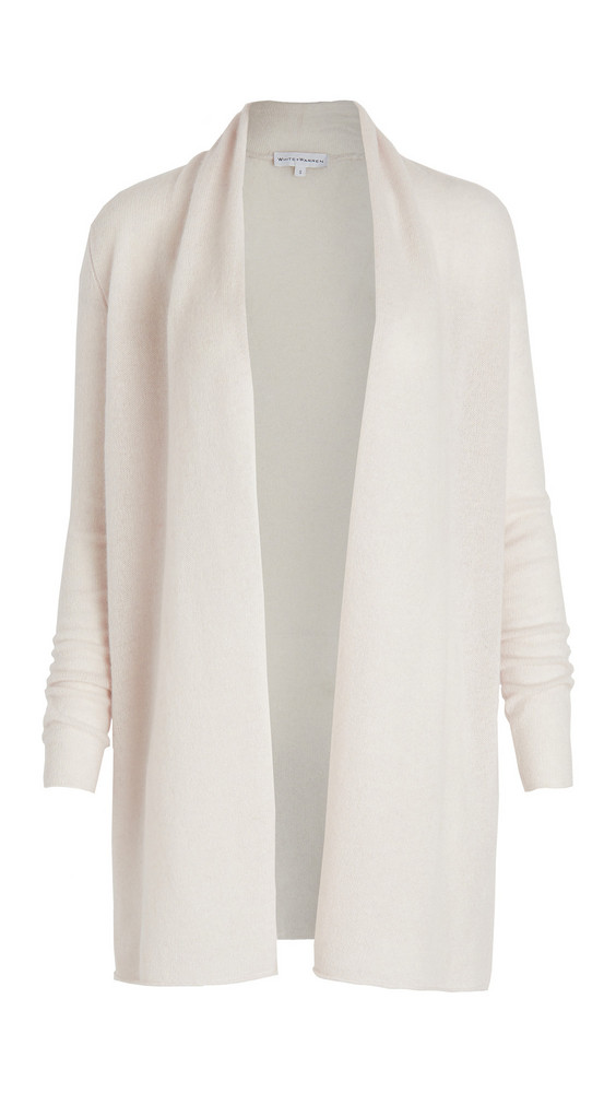 White + Warren White + Warren Trapeze Cashmere Cardigan