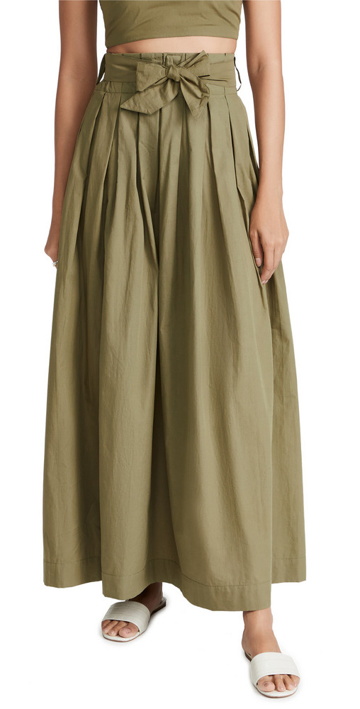 SWF Tieup Maxi Skirt in green