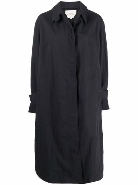 Studio Nicholson long-sleeve single-breasted coat - Blue