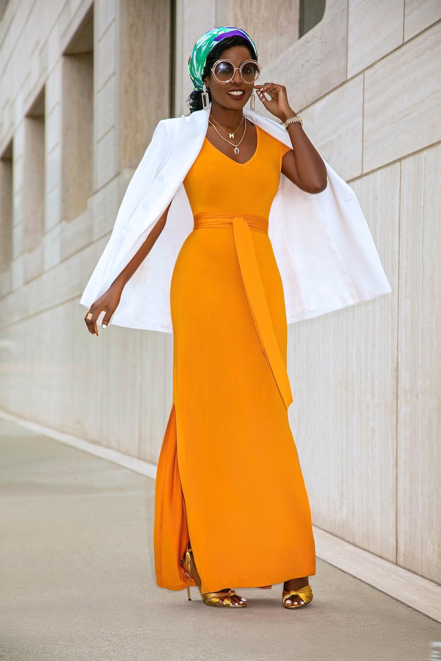 Style Pantry | Oversized Blazer   Off Shoulder T-Shirt Dress