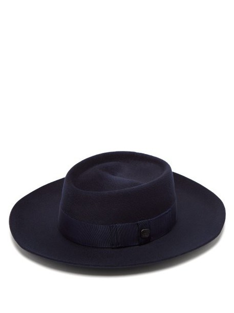 Filù Hats - Niseko Wool Blend Hat - Womens - Dark Blue