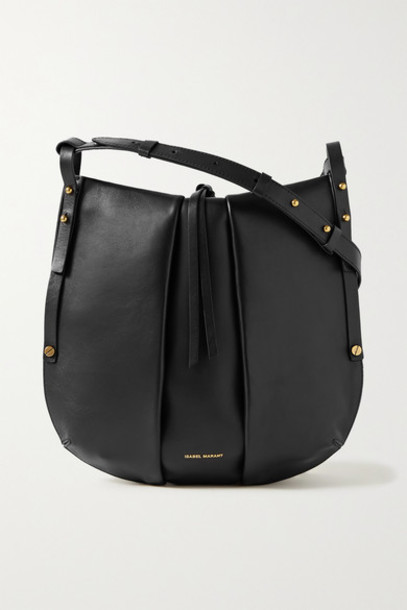 Isabel Marant - Lecky Leather Shoulder Bag - Black