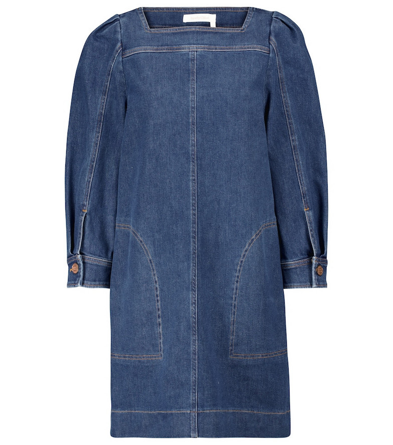 See By Chloé Denim mini dress in blue
