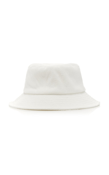 Avenue Terry Cotton Bucket Hat in white