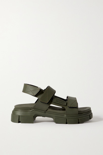 GANNI - Recycled Rubber Sandals - Green