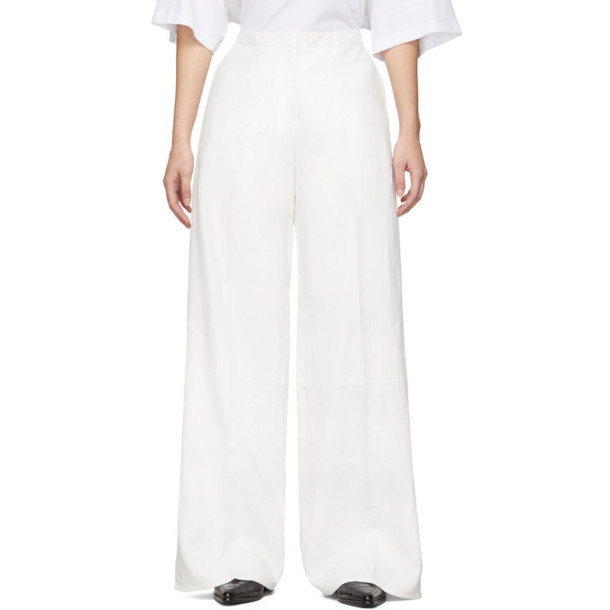 Jil Sander White Structured Trousers