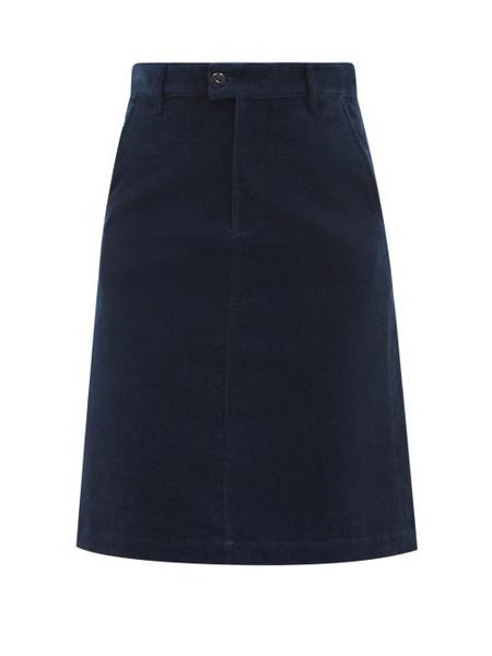 A.P.C. A.P.C. - High-rise Corduroy Skirt - Womens - Navy