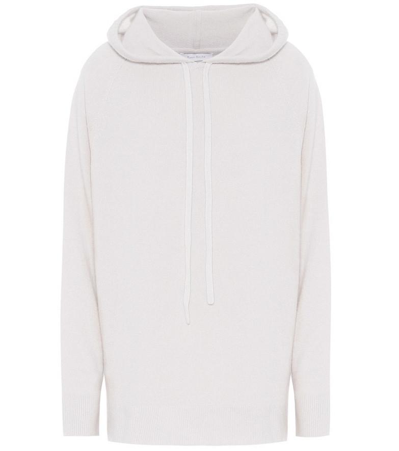 Ryan Roche Cashmere hoodie in white
