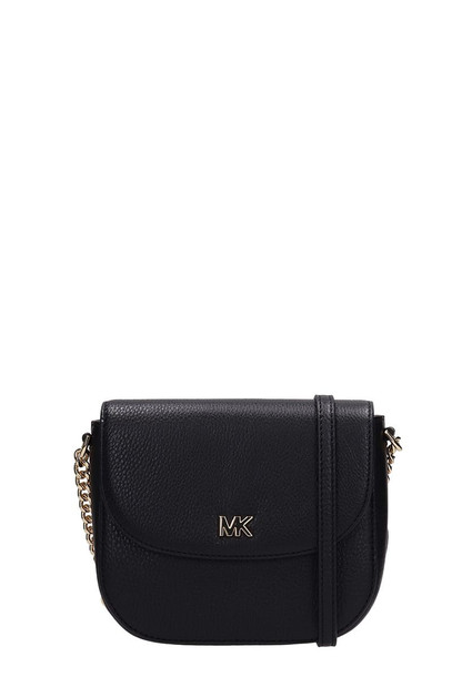 Michael Kors Black Grained Leather Half Dome Bag