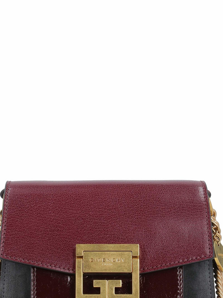 Givenchy Cross-3 Leather Shoulder Bag in burgundy