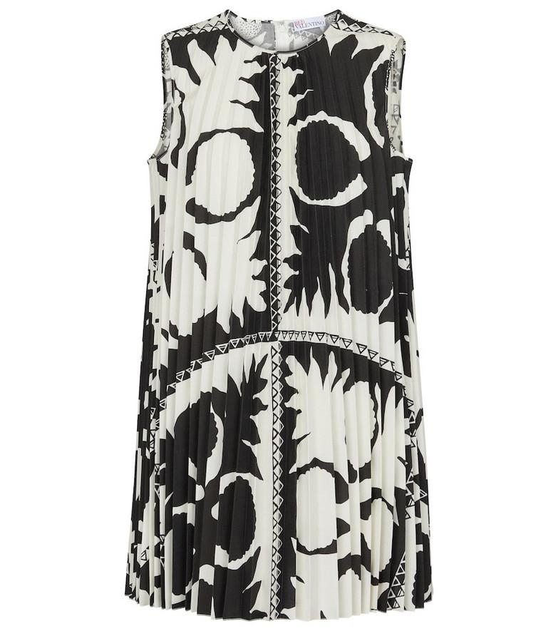 REDValentino pleated cotton-blend poplin top in black