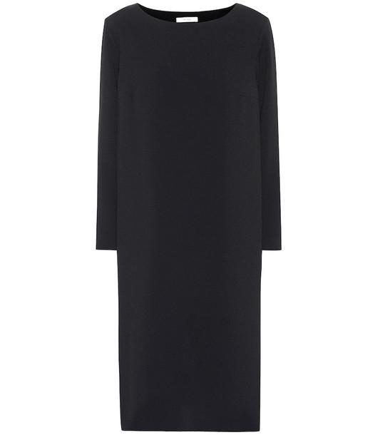 The Row Larina crêpe midi dress in black