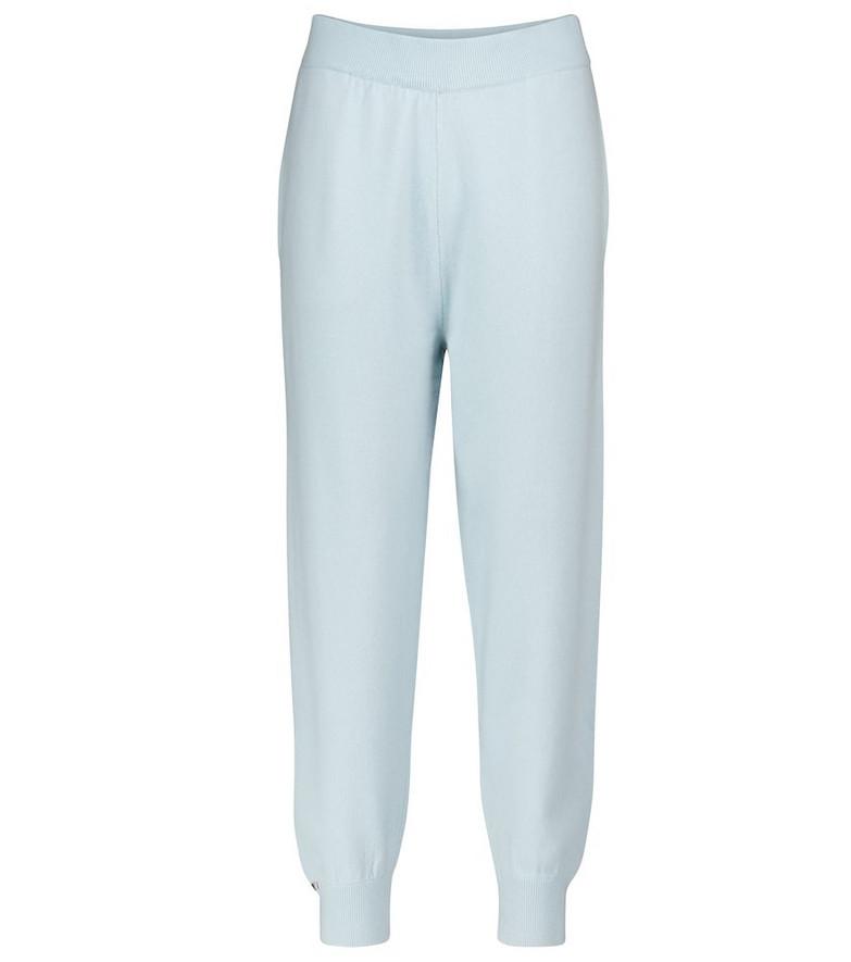 Extreme Cashmere N° 56 Yogi cashmere-blend sweatpants in blue