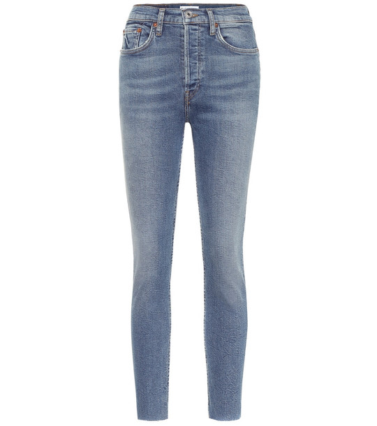 Re/Done High-rise skinny jeans in blue