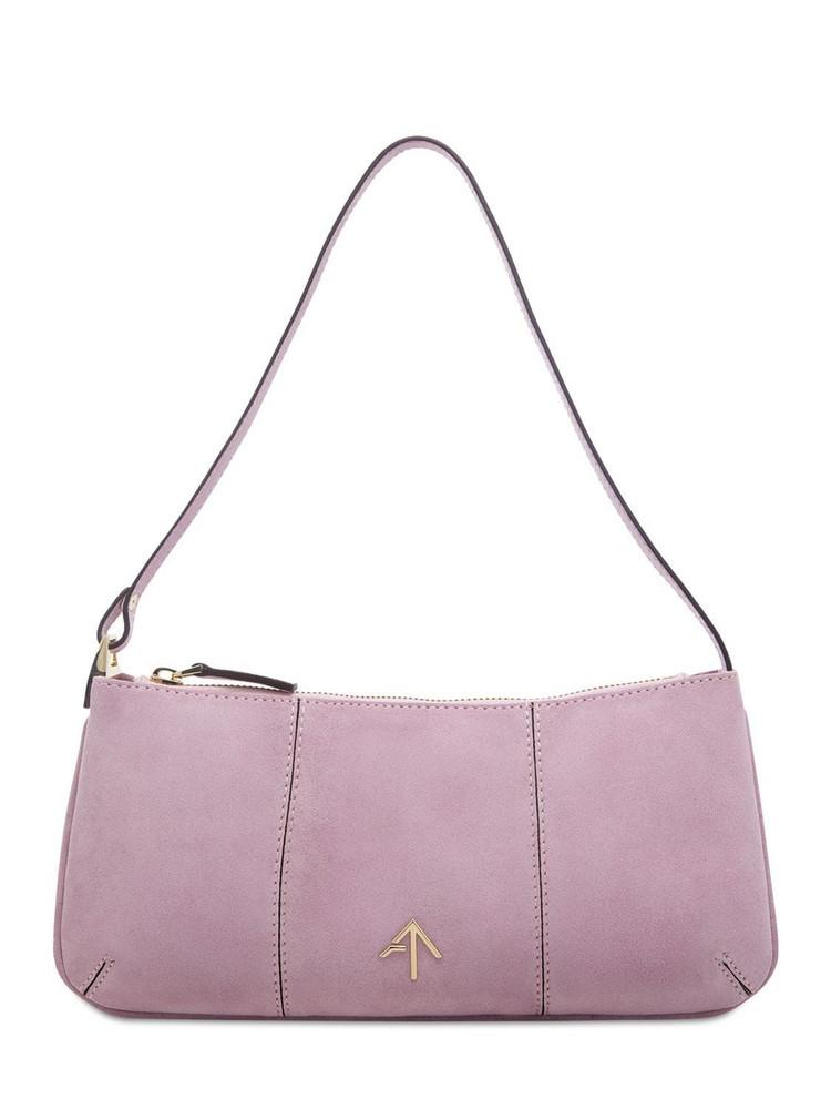 MANU ATELIER Pita Suede Leather Shoulder Bag