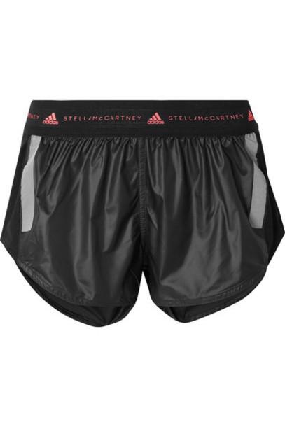 adidas by Stella McCartney - Run Az Mesh-paneled Climalite Shorts - Black