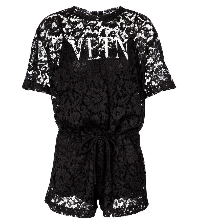 Valentino lace playsuit in black
