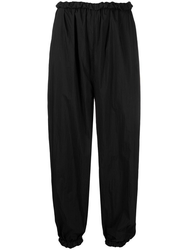 Aeron high-waisted drop-crotch trousers in black