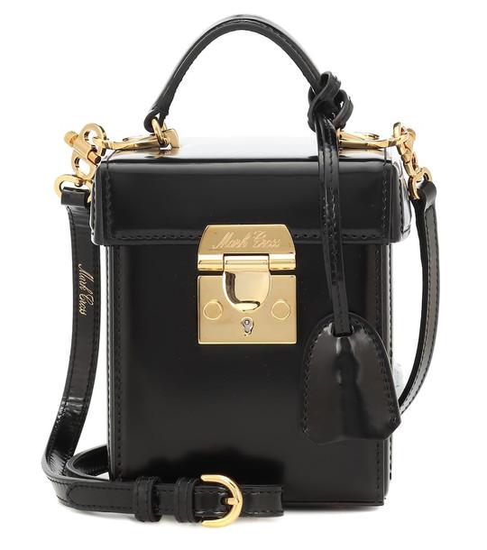 Mark Cross Grace Cube leather crossbody bag in black