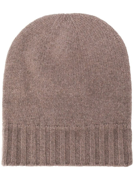 Pringle of Scotland Scottish beanie hat in neutrals
