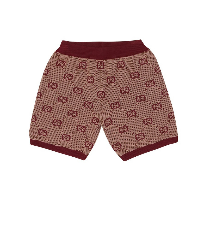 Gucci Kids Baby knitted wool and cotton shorts in beige
