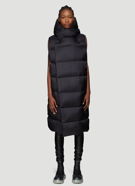 Rick Owens Down Liner Coat in Black size IT - 40