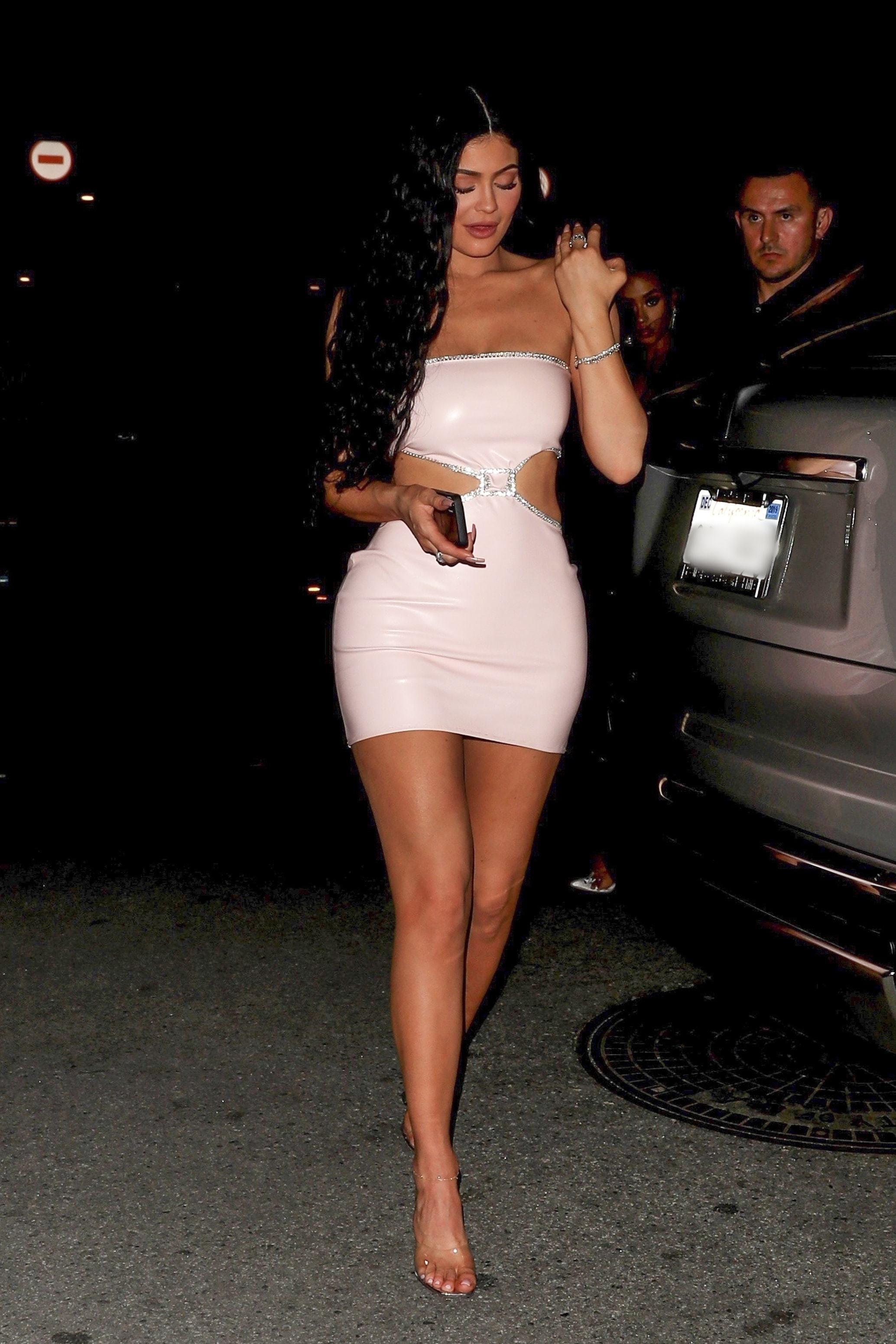 dress bodycon dress mini dress vinyl kylie jenner kardashians cut-out sexy dress celebrity mules