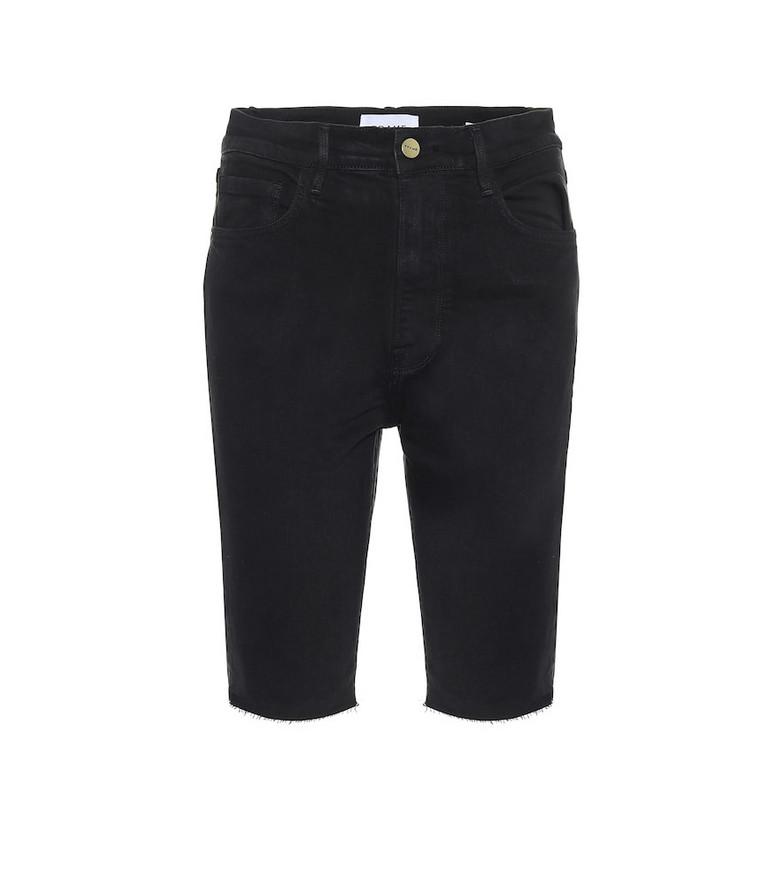Frame Le Vintage denim Bermuda shorts in black
