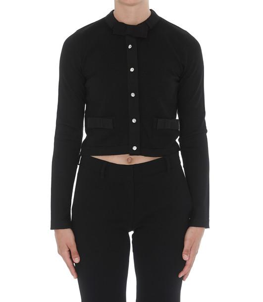 Miu Miu Woolen Pullover in black
