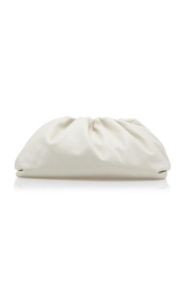 Bottega Veneta Large Soft Leather Clutch in white