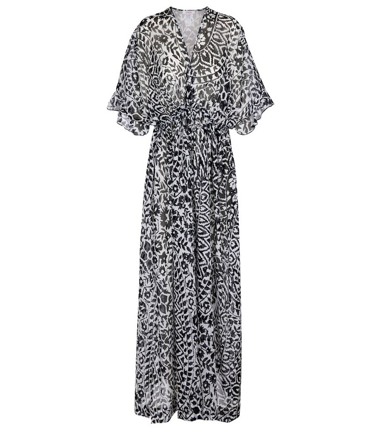 Eres Cinnamon printed cotton kaftan in blue